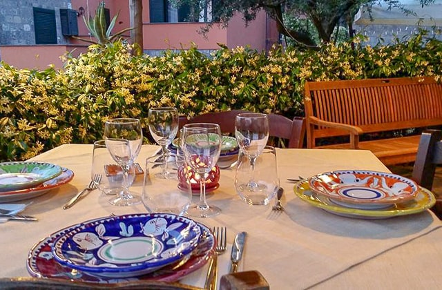 Antico Casale Sorrento Farm Stay- festive table